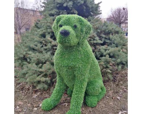 Фигура из искусственной травы - собака №2
