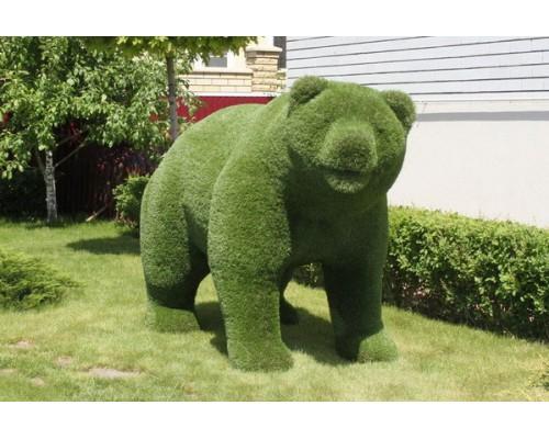 Фигура из искусственной травы - медведь №2
