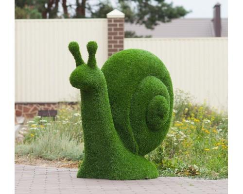 Фигуры из искусственной травы - улитка