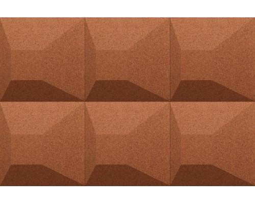 Объемные пробковые плитки 3D формы Aztec Terracotta