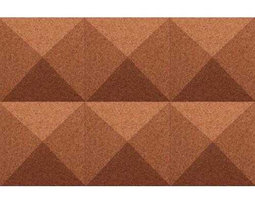 Объемные пробковые плитки 3D формы Pyramid Terracotta