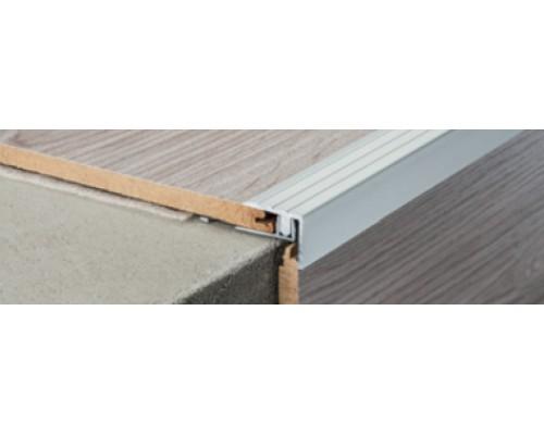 Профиль Profilpas G1+T для ступеней на лестницах покрытых ламинатом и паркетом