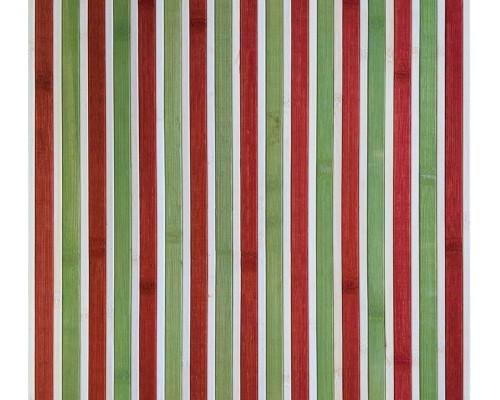 Бамбуковые обои красно-зеленые