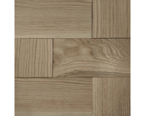 Мозаика деревянная 3D серия «MAXI комбо» White