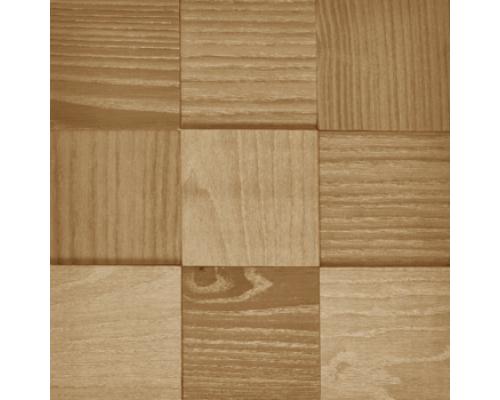 Мозаика деревянная 3D серия «MAXI квадрат» Natural