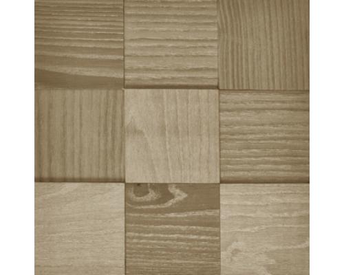 Мозаика деревянная 3D серия «MAXI квадрат» White