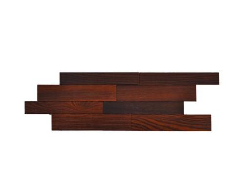 Мозаика деревянная 3D серия «киприч» Ясень thermo