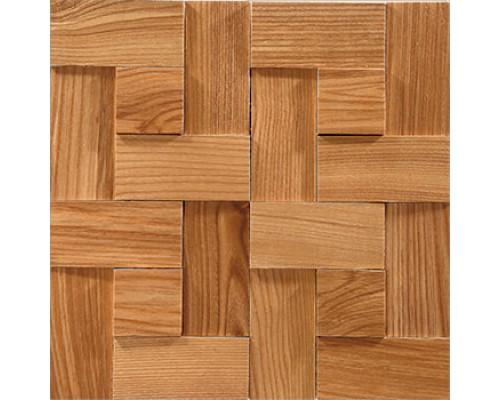 Мозаика деревянная 3D серия «комбо» Ясень