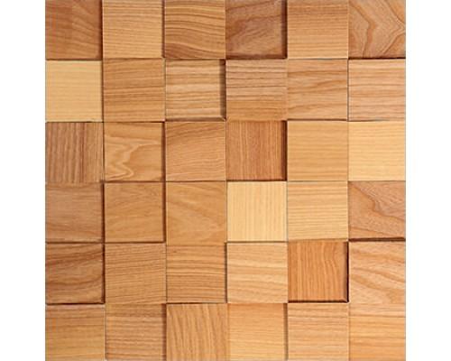 Мозаика деревянная 3D серия «квадрат» Ясень