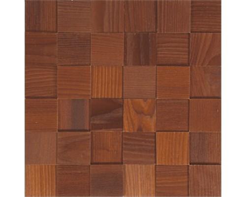 Мозаика деревянная 3D серия «квадрат» Ясень thermo