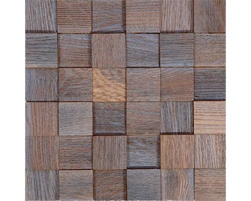 Мозаика деревянная 3D серия «квадрат» Дуб ice