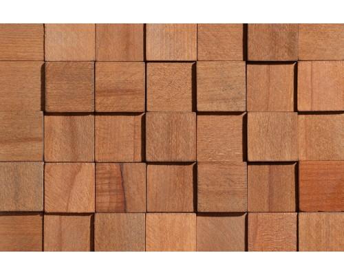 Мозаика деревянная 3D серия «квадрат» Бук
