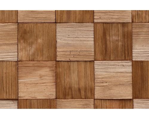 Мозаика деревянная 3D серия «квадрат» Сосна
