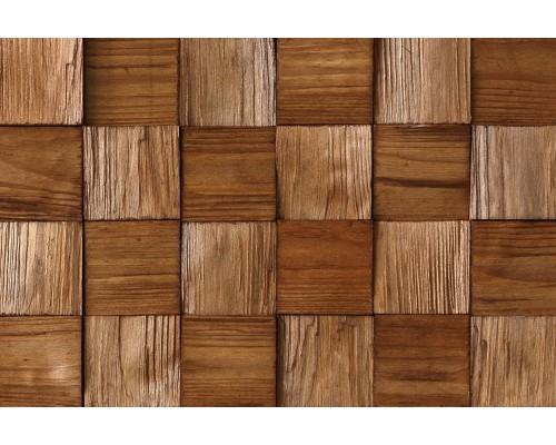 Мозаика деревянная 3D серия «квадрат mini» Сосна