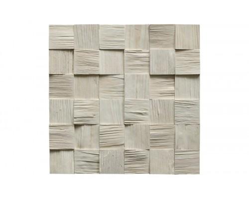 Мозаика деревянная 3D серия «квадрат mini» Сосна 3
