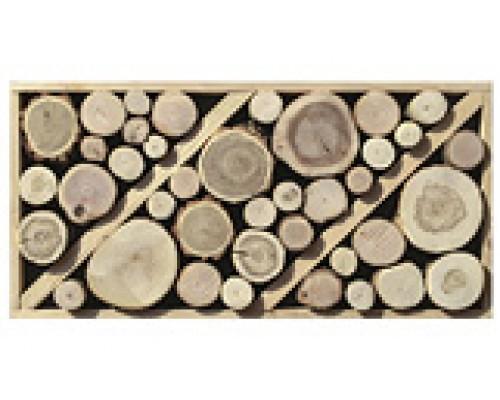 Мозаика деревянная 3D серия «поперечный срез» №2