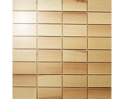 Мозаика деревянная серия «прямоугольник» Ясень селект