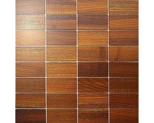 Мозаика деревянная серия «прямоугольник» Ясень thermo