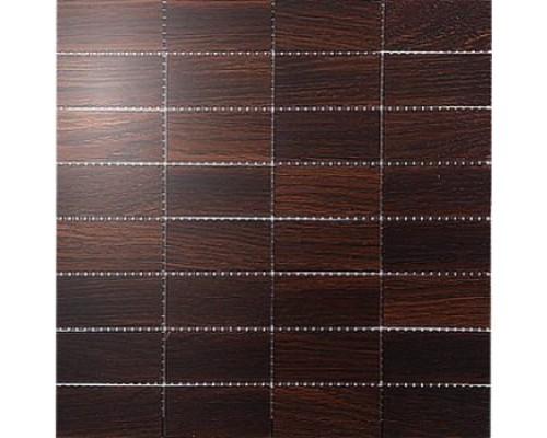 Мозаика деревянная серия «прямоугольник» Дуб thermo