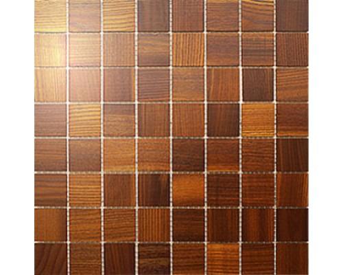 Мозаика деревянная серия «квадрат» Ясень thermo