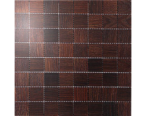 Мозаика деревянная серия «квадрат» Дуб thermo