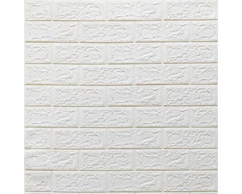 Стеновые 3D панели на самоклейке под белый кирпич №1