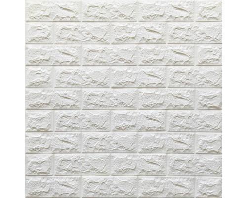 Стеновые 3D панели на самоклейке под белый кирпич №2