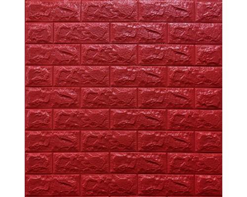 Стеновые 3D панели на самоклейке под кирпич №8/1 красный