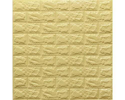 Стеновые 3D панели на самоклейке под кирпич №9/1 песочно-желтый