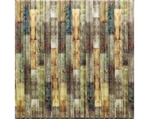 Стеновые 3D панели на самоклейке под дерево №73 бамбук микс