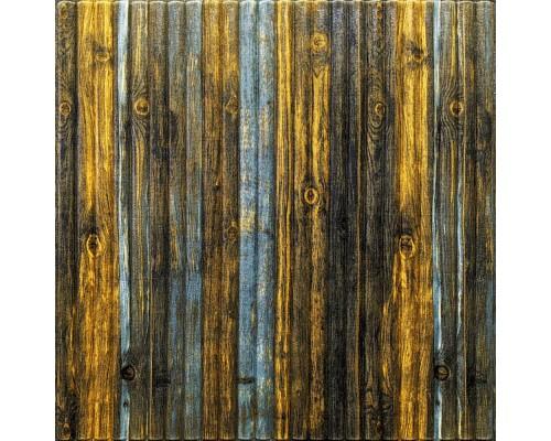 Стеновые 3D панели на самоклейке под дерево №75 бамбук серо-коричневый