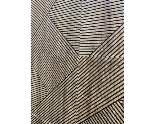 Стеновые панели 3D из МДФ в пленке ромб №2