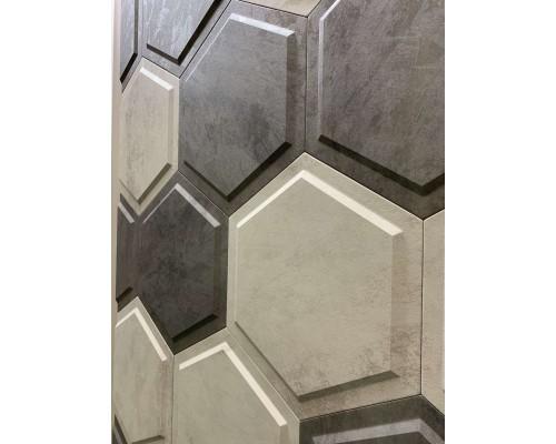 Стеновые панели 3D из МДФ в пленке ромб №1