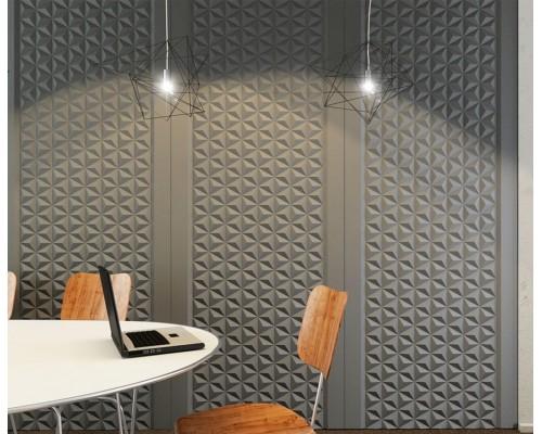 Стеновые панели 3D из МДФ в пленке пирамида №1