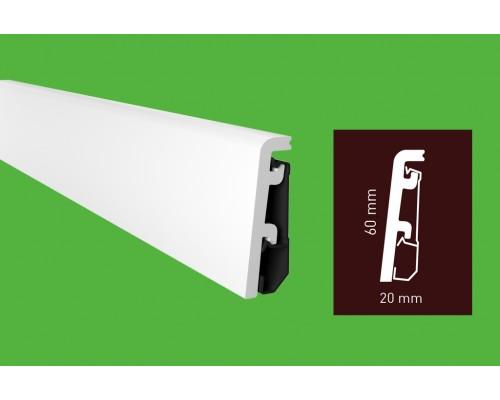 Плинтус Arbiton Vega P0610 60 мм белый