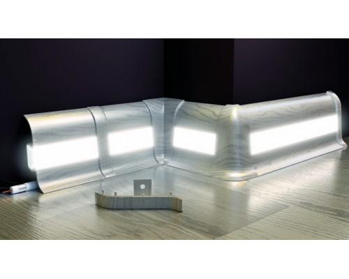 Профиль с подсветкой для плинтуса Cezar Premium