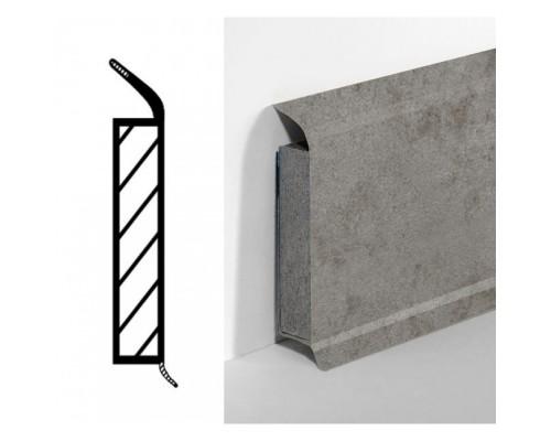 Плинтус МДФ в полимерном покрытии Dollken EP60 60мм 2615 grey sandstone