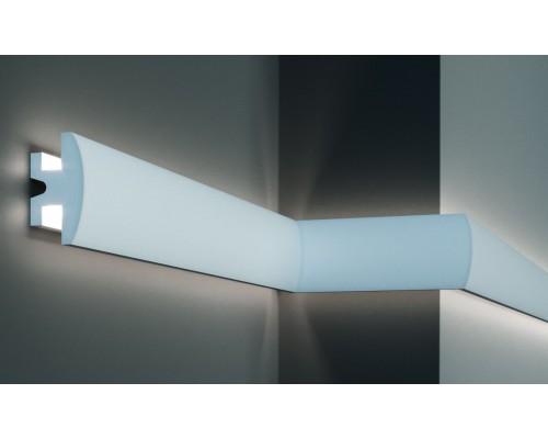 Плинтуса EliteDecor ввиде карниза для скрытой подстветки Tesori KD305