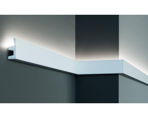 Плинтуса EliteDecor ввиде карниза для скрытой подстветки Tesori KF501 гибкий для эркеров