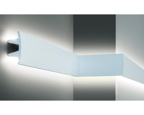 Плинтуса EliteDecor ввиде карниза для скрытой подстветки Tesori KF503