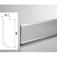 Плинтус WT Metal line алюминиевый накладной 40мм