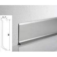 Плинтус WT Metal line алюминиевый накладной 60мм