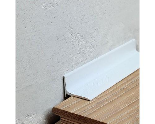 Плинтус алюминиевый (мини-плинтус, антиплинтус) профиль 1520 белый