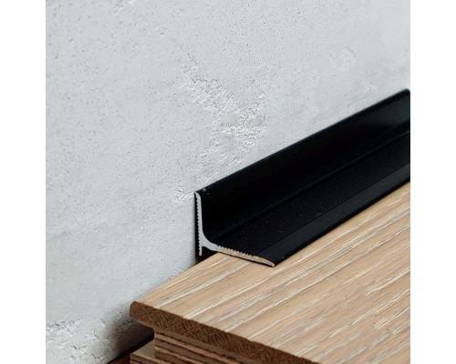 Плинтус алюминиевый (мини-плинтус, антиплинтус) профиль 1520 черный