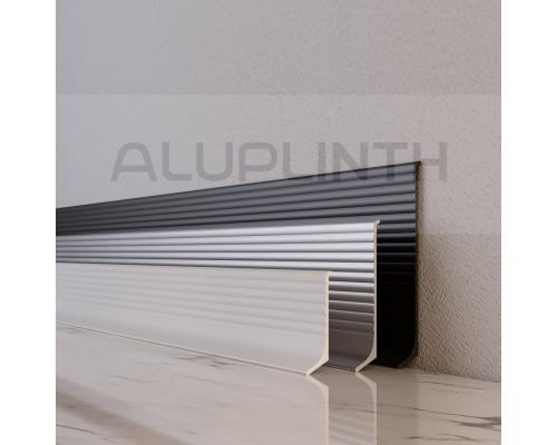 Плинтус алюминиевый (мини-плинтус) профиль 4011 белый