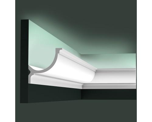 Полиуретановые плинтуса Orac Decor для скрытой подстветки C902 гибкий для эркеров