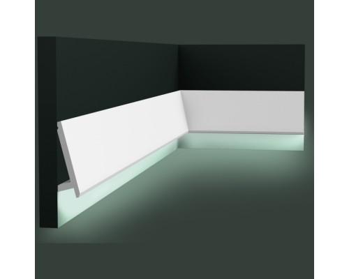 Полиуретановые плинтуса Orac Decor для скрытой подстветки SX179
