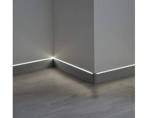 Плинтус Profilpas Metal line 87+88 60мм скрытого монтажа для LED-подсветки