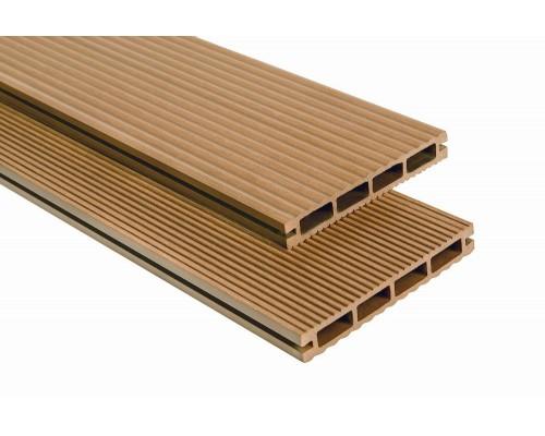 Террасная доскаPolymer&Wood серия Lite цвет Oak