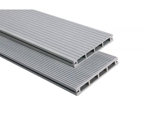 Террасная доскаPolymer&Wood серия Lite цвет Grey